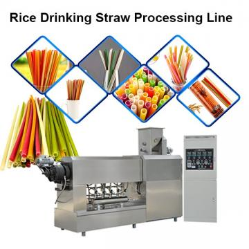 Edible Eco Friendly 100-150kg/H Best Quality Rice Making Drinking Straw Machine Pasta ...